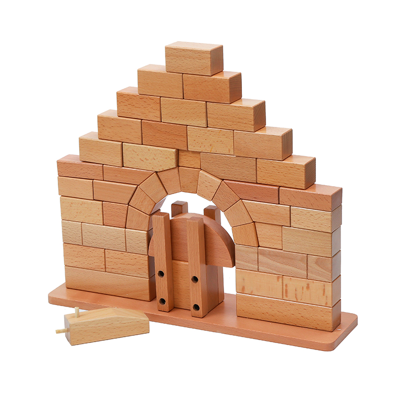 Brinquedo do bebê montessori ponte romana de madeira para educação infantil pré escolar crianças brinquedos juguetes - 2