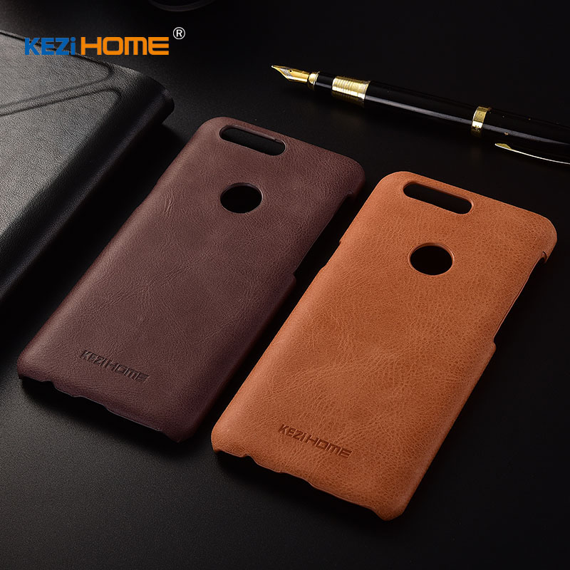 for OnePlus 5T case KEZiHOME Frosted Genuine Leather Hard Back Cover capa For OnePlus 5T 6.01 inch Phone Protector cases coque