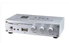 Lepy LP-A2USB 12 V coche de control remoto mini computadora de escritorio amplificador de apoyo U disco 15 W + 15 W