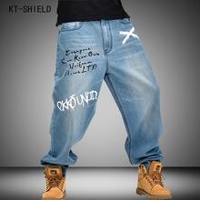 famous brand men Hip Hop Mens Baggy moto jeans Pants Denim Printed biker jeans Trousers Mens Skateboard Pants Plus Size 30-46