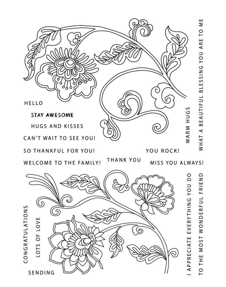 CLEAR STAMPS flower DIY Scrapbook Card album paper craft