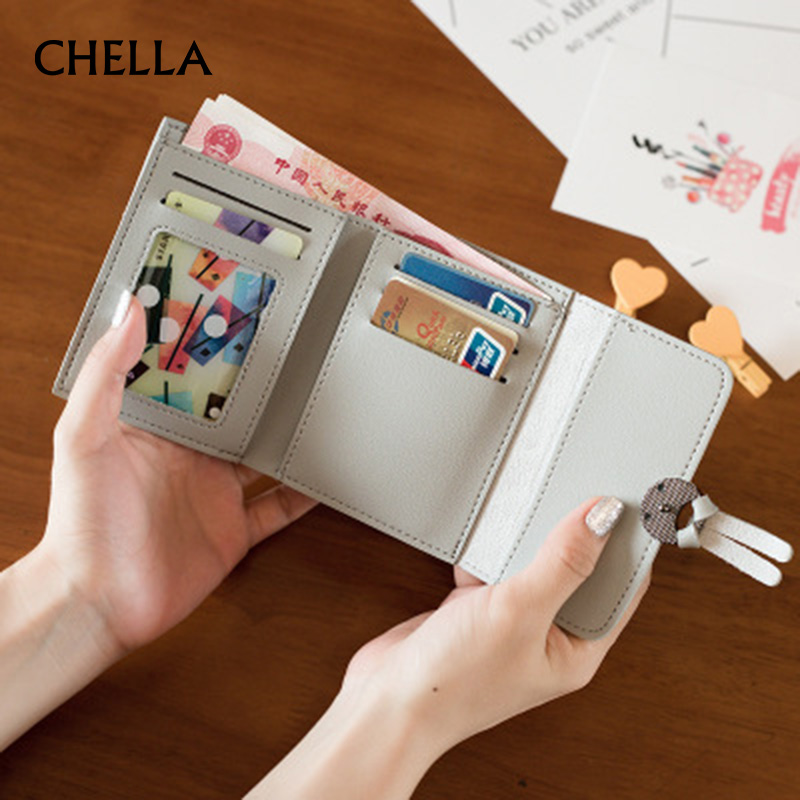Women Short Wallet PU Leather Mini Female Money Purse New Fashion Foldable Credit Card Holder Lady Coin Bags Girl Wallets WT0121