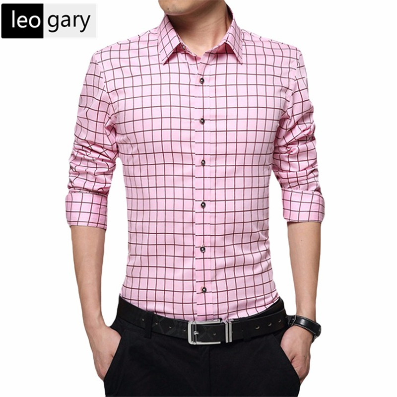 Online get cheap mens pink shirts for Where to buy cheap plaid shirts