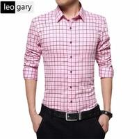 New 2016 Autumn Mens Plaid Shirt Slim Fit Men Long Sleeve Shirts Fashion Brand Cotton Casual