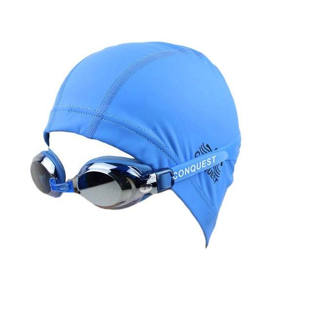 US $12 99 |New Top quality Swimming Goggles + Cap Women Men Eyewear Anti  Fog UV protected Waterproof Adjustable Swim Glasses-in Swimming Eyewear  from