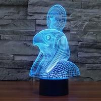 Free Shipping fantastic design 3D DECOR Pharaoh shape creative night Light cool lamp For Home Decoration
