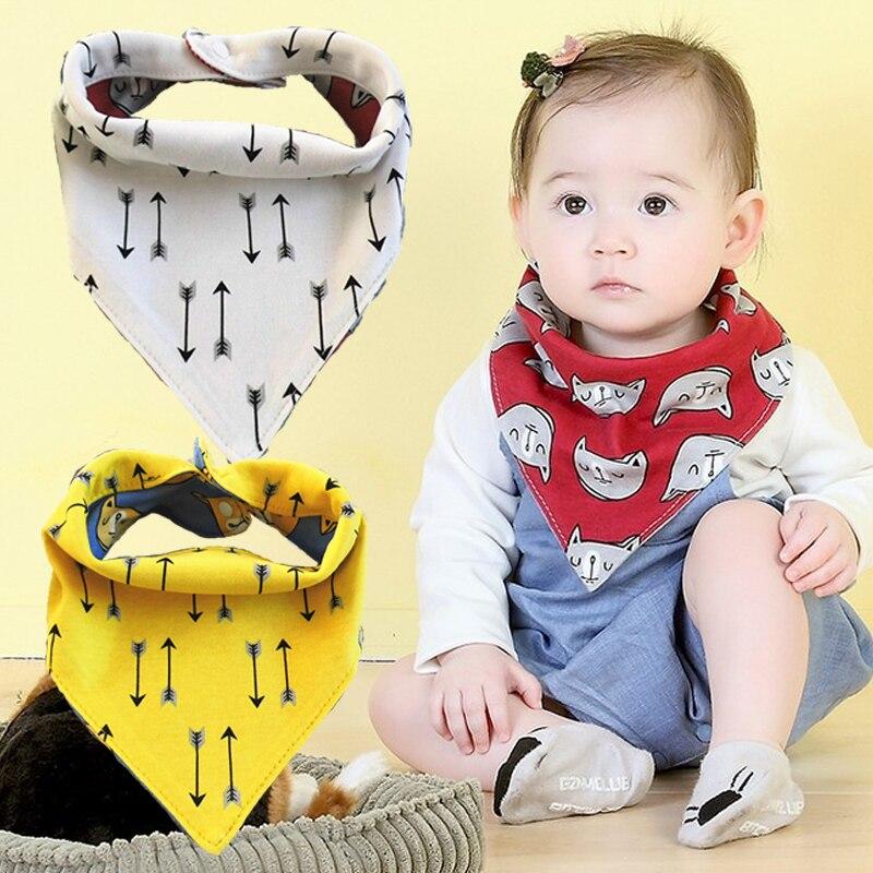 Kids & Baby 100% Cotton Baby Bibs Newborn Boys Girls Towel Bandanas Chiscarf Infant Saliva Toddler Clothing Para Bebe 2 sides
