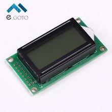 5 В ЖК-дисплей 0802B черный Характер матричный ЖК-дисплей Дисплей модуль 8×2 серый Задний план параллельно Порты и разъёмы