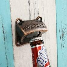 Винтаж бронза настенная открывалка вина для пива бутылка содовой Кепки открывалка для бутылок кухонные принадлежности, аксессуары бар подарок цинковый сплав