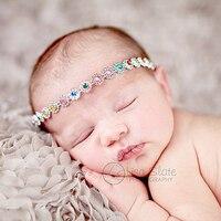 Wholesale Baby Christening Headband Newborn Rhinestone Headbands For Baby Girl Hair Accessories Fashion Baptism Headband 100pcs