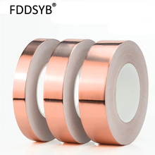 30M*0.06mm Single Electric Conduct Self-Adhesive Copper Foil Tape for Magnetic Radiation Electromagnetic Wave Free shipping 60mm 30m 0 06mm adhesive copper foil tape for electromagenetic wave radiation emi emc shielding shield masking mask