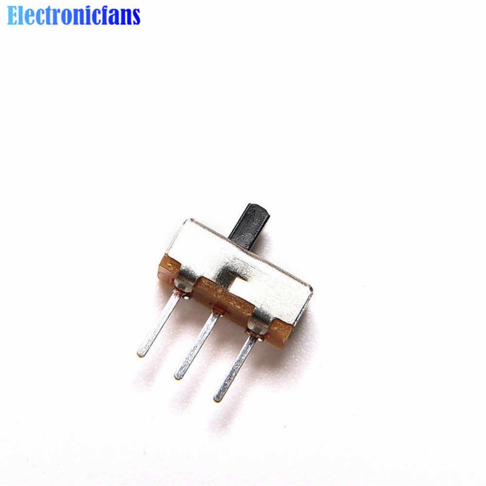 20 ชิ้น/ล็อต SS12D00G3 SS-12D00G3 สไลด์ 2 ตำแหน่ง SPDT 1P2T 3Pin แผง MINI VERTICAL TOGGLE Switches สำหรับ DIY