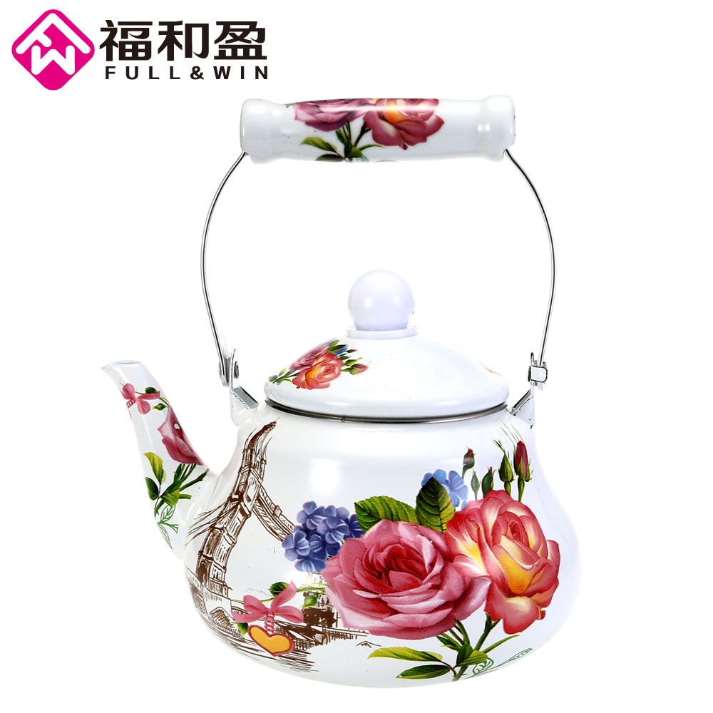 1pcs 1 5L Pear Shaped Pot Smooth Kettle High Quality Enamel Tea Pot Used On Electromagnetic
