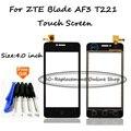 Черный/Белый 4 дюймов Сенсорный Экран Digitizer Для ZTE Blade AF3 T221 A5 pro дигитайзер сенсорный экран + Бесплатные Инструменты
