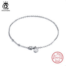 ORSA JEWELS Real 925 Sterling Silver Bracelets Women Perfect Polished Bracelet Lobster-claw-clasp Fashion Female Jewelry SB29(China)