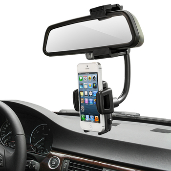 360 Degree Car Auto Rearview Mirror Mount Cell Phone Holder Bracket Stands For Samsung S8 Plus For IPhone 7 6S Mobile Phone GPS iPhone XR