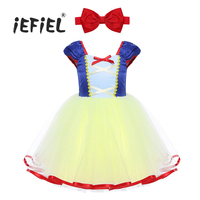 IEFiEL Infant Baby Girls Mesh Sleeveless Halloween Christmas Costume Cosplay Party Dress With Headband Holiday Pretty