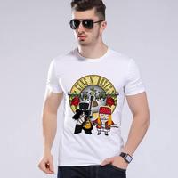 Summer men casual t shirt Guns N Roses Rock Band short sleeve punk rock t shirt music punk t shirt brand clothing  L9-K17