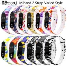 Аксессуары BOORUI для mi band 2, цветной специальный силиконовый ремешок для Mi Band 2, ремешок для смарт браслетов Xiaomi mi band 2