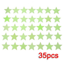 DHDL!35x Mini Etoiles phosphorescentes Stickers Muraux fluorescents Glow musque nuit lumineux phosphorescentes(China)