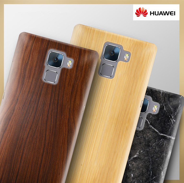 sale retailer a7e74 6461d US $12.7 |Ultra Thin Plastic Wooden Cover for Huawei Honor 7 Case Wood  Bamboo Pattern Hard Cover for Huawei Honor7 Phone Protective Shell on ...