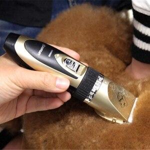 Image 5 - مقلم شعر الحيوانات الأليفة البارع قابلة للشحن القط الحيوانات التهيأ كليبرز ماكينة حلاقة مقص كهربائي الكلاب آلة قطع الشعر