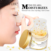 BREYLEE 50pcs Gold Osmanthus Fragrans Eye Mask Collagen Gel Patch Face Lifting Firming Skin Care Remove Dark Circles Serum