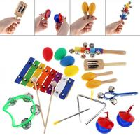 17Pcs/Lot Musical Instruments 8 Tone Xylophone Set 9 Kinds Kids Percussion Toys for Children / Baby / Early Education