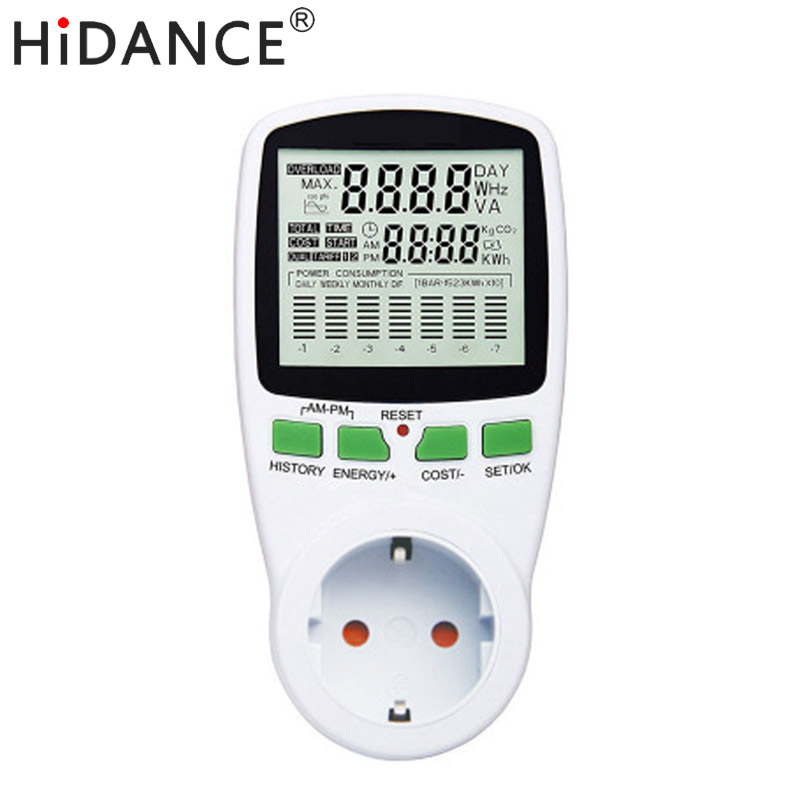 HiDANCE AC Power Meter 220 v digitale wattmeter eu energy meter watt monitor strom kosten diagramm Messung buchse analysator