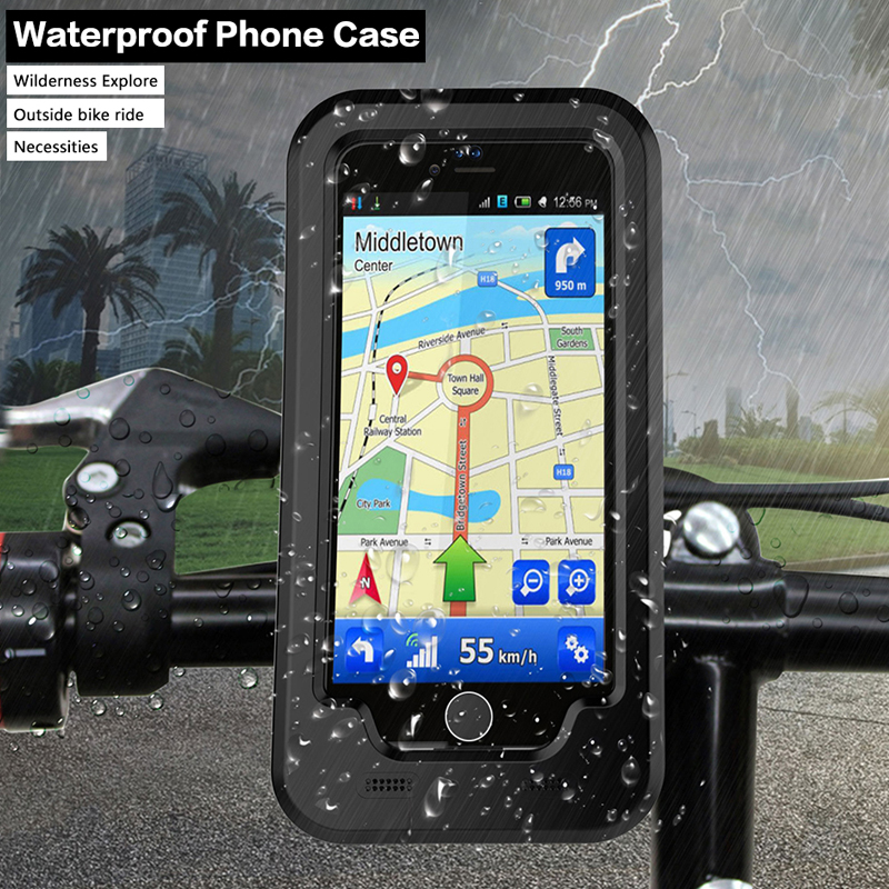 Bicycle Phone Holder Support For iPhone7 7Plus/ 6s Plus/5s SE GPS Sport Waterproof protective cover Case bike holder