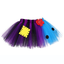 Christmas Scary Nightmare Pattern Tutu Skirt Kids Purple Black Blue Girls Pettiskirt Children Halloween Cosplay Tulle