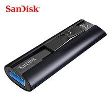 سانديسك إكستريم برو USB 3.1 الحالة الصلبة محرك فلاش 128 GB USB ذاكرة عصا 256 GB حملة القلم U القرص CZ880 ل PC/دفتر 420 برميل/الثانية