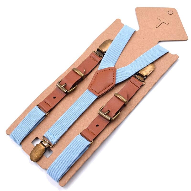 Suspenders 2.0*115cm Women Suspenders Elastic Retro Clips Suspenders Girls Belt for Trousers Y-back Shape Leather Braces 9colors