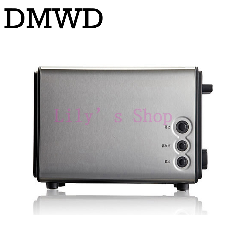 DMWD Mini electrical toaster breakfast bread baking machine automatic toast maker Sandwich breadmaker grill portable oven EU US цена