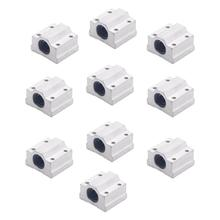 цены 10Pcs/Lot Sc8Uu Scs8Uu Block 3D Printer Part 8Mm Linear Ball Bearing Block Cnc Router Ball Bearing Sc8Uu Scs8Uu