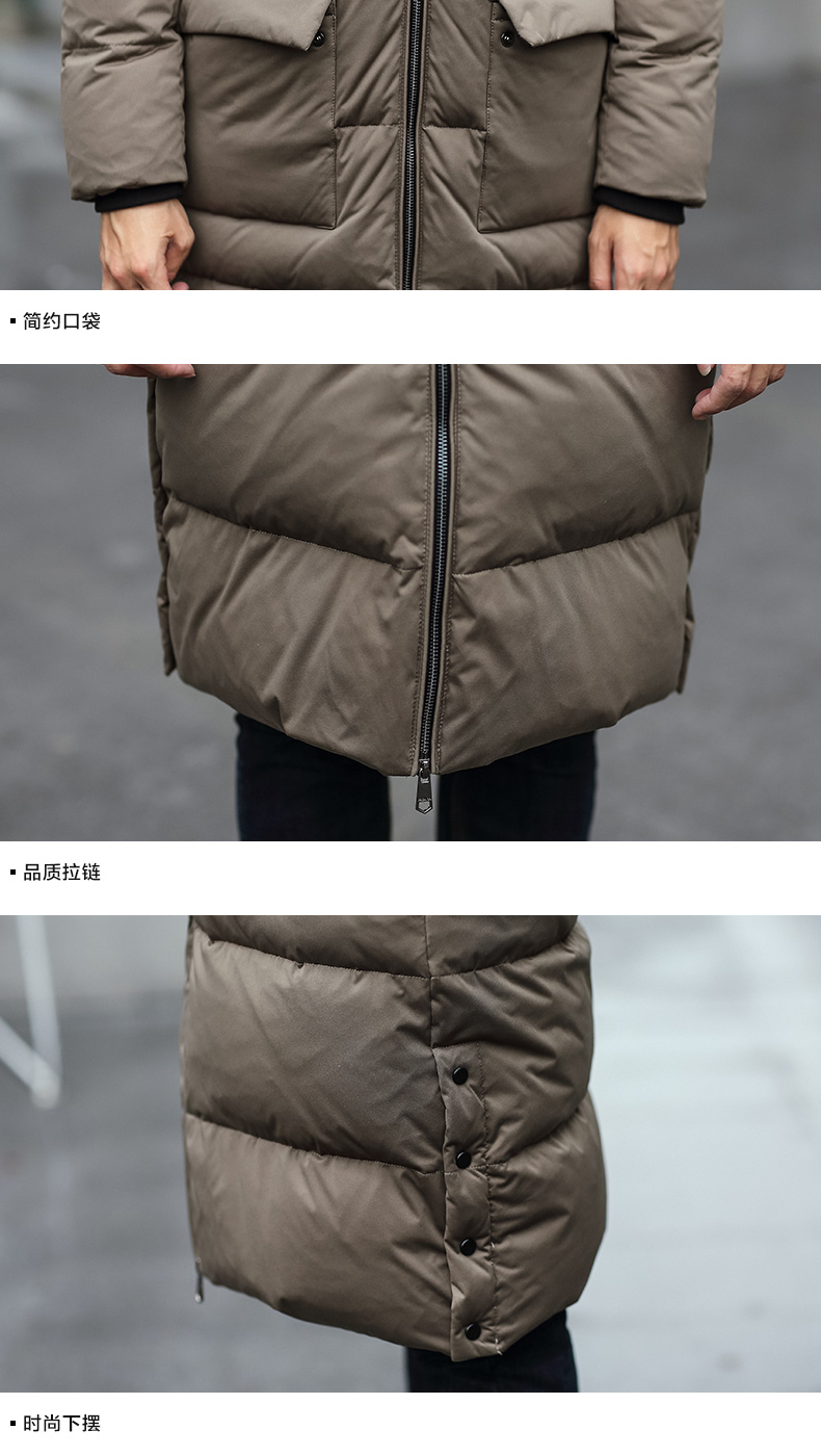 95895f3bf 2016 Men Down Jacket In The Long Winter Coat Slim Youth Thickened ...