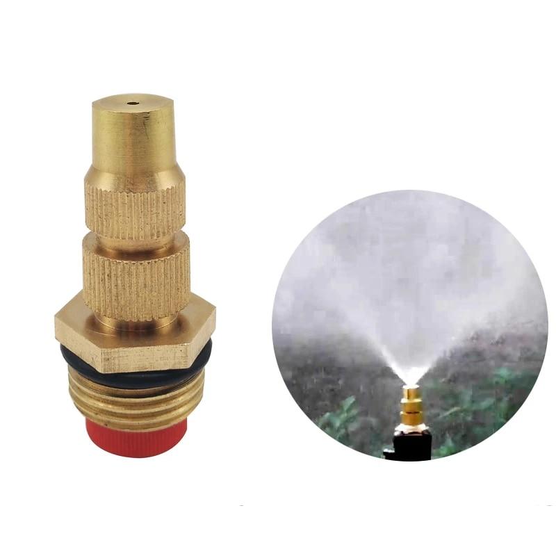 6 Pcs Brass Misting Spray Nozzle Adjustable Brass Spray Sprinkler for Garden Watering Irrigation Accessories