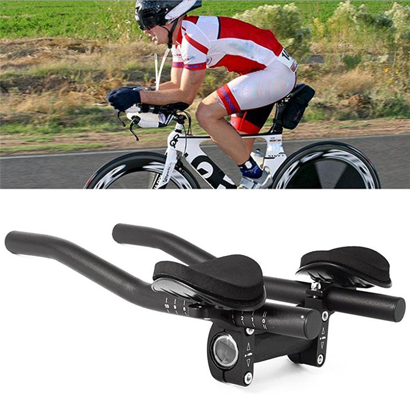 Road Mountain Bike Bicycle Alloy Triathlon Aero Rest Handle Bar Clip On Tri Bars Outdoor Sport Bicycle Accessories Quality Sep 5
