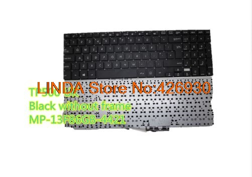 Laptop Keyboard For ASUS TP500 TP550 Black without frame UK United Kingdom MP-13F86GB-4421 0KNB0-610JUK00 laptop keyboard for asus n551jq n551jw n551jx n551vw n551z n551zu red word sp spain black with blacklight without frame