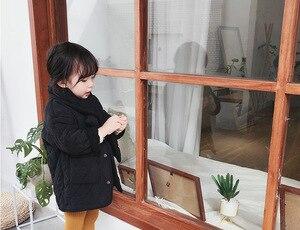 Image 5 - สาวแฟชั่นฤดูหนาวPolar Fleece Thicken Single Breastedเสื้อโค้ทยาวพร้อมNeckerchiefเด็กอบอุ่นเสื้อแจ็คเก็ตยาวOutwearเสื้อผ้า