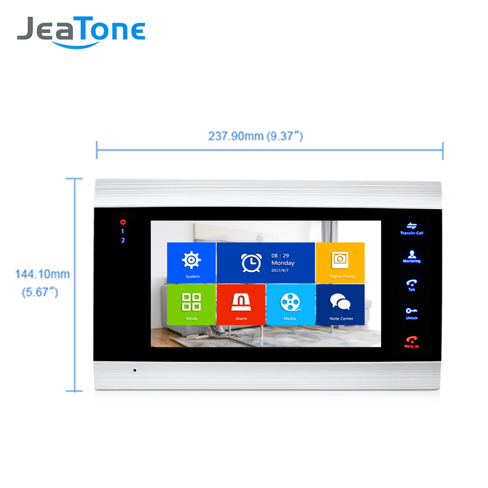 Купить с кэшбэком 7 inch Video Intercom 720P/AHD Video Door Phone Security System Voice message/Motion Detection (Monitor Only)