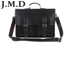 J.M.D 2017 Hot Sale High Quality Vintage Genuine Cowhide Leather Man Briefcases Laptop Bag Men Portfolio Handbag  7105
