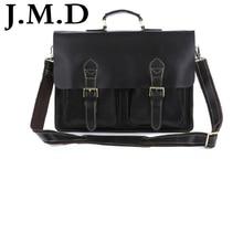 J.M.D 2017 Hot Sale High Quality Vintage Genuine Cowhide Leather Man Briefcases Laptop Bag Men Portfolio Handbag 7105