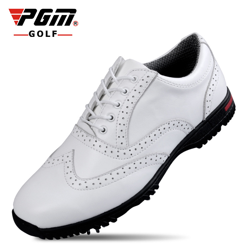 PGM Professional Genuine Leather Waterproof Golf shoes for men good quality breathable shoes slip resistant sports shoes high quality authentic famous polo golf double clothing bag men travel golf shoes bag custom handbag large capacity45 26 34 cm