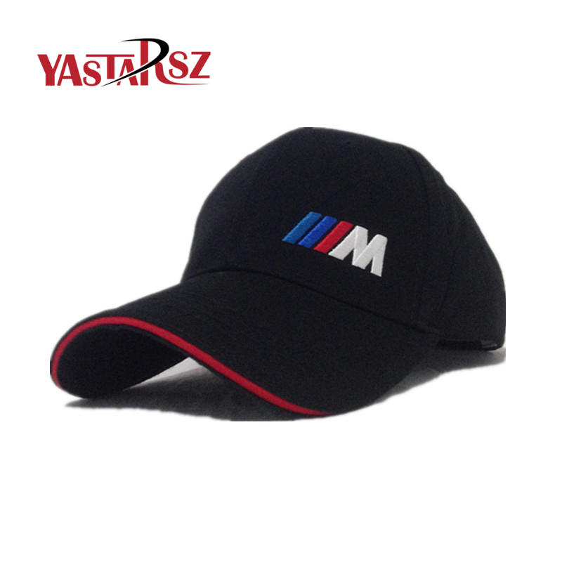 Car Styling Men Fashion Cotton Car logo M performance Baseball Cap hat for bmw M3 M5 3 5 7 X1 X3 X4 X5 X6 330i Z4 GT 760li E30 soarhorse car styling 3d chrome silver x1 x3 x4 x5 x6 gt z4 letters emblem rear trunk boot badge logo sticker for bmw