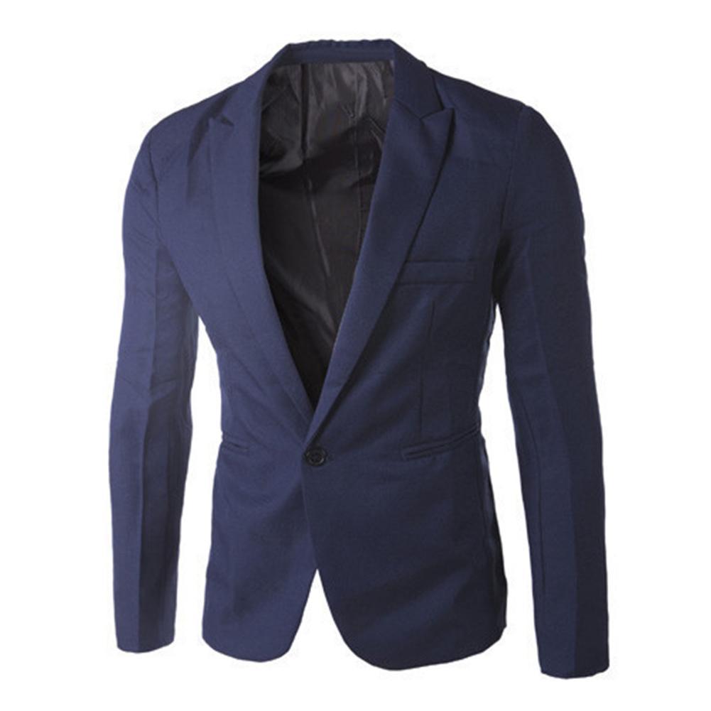 Men's Blazer Suit Coat Jackets Slim-Fit Business Male Autumn Black/grey Fashionable New