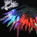 EUA Plug 4 M 20 LED Sincelo Luzes De Natal Ao Ar Livre Forma de Cordas Fada Luz Xmas Do Casamento Decoração Lumineuse Guirlande Levou 50 S