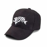SWTN New Outdoor Hat Man Sunshade Sun Fish Bones Embroidered Cap Adjustable Hat Fishing Hook High