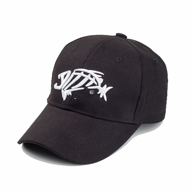 Swtn new hat man sunshade sun fish bones embroidered cap for High hat fish