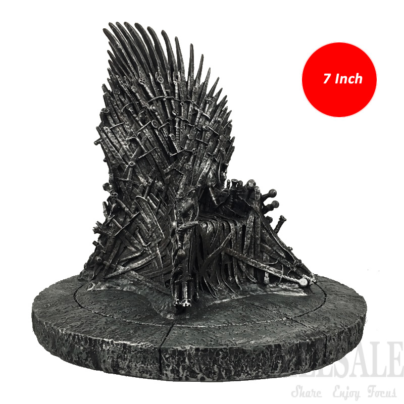 2017 New 7 The Iron Throne Game Of Thrones Figure Action Resin Toys Desk Decor Phone Stand Lifelike Model Gift Dropshipping game of thrones action figure toys sword chair model toy song of ice and fire the iron throne desk christmas gift 17cm